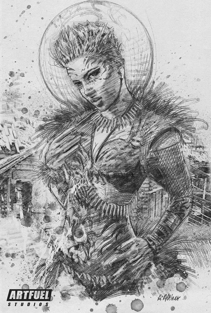 Viking Female Illustration