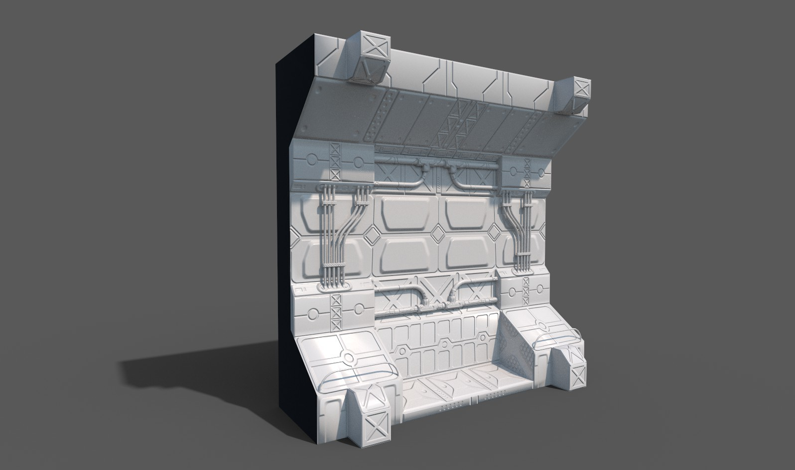 first Normal and baking tests in Substance painter (rendered in Iray)