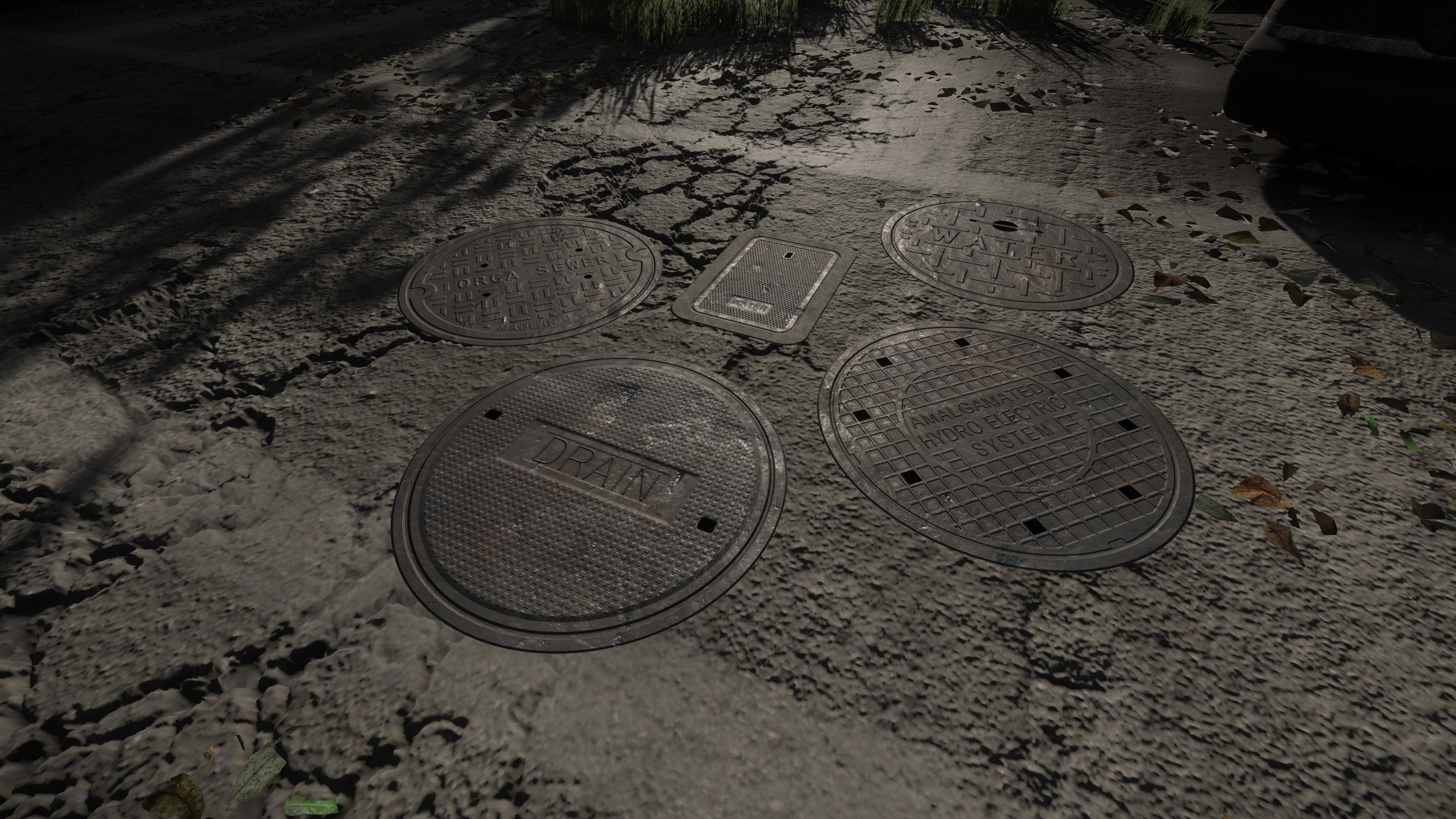 These Manhole Covers help make the city feel more realistic and immersive. All 10 decals are on 1 texture sheet.