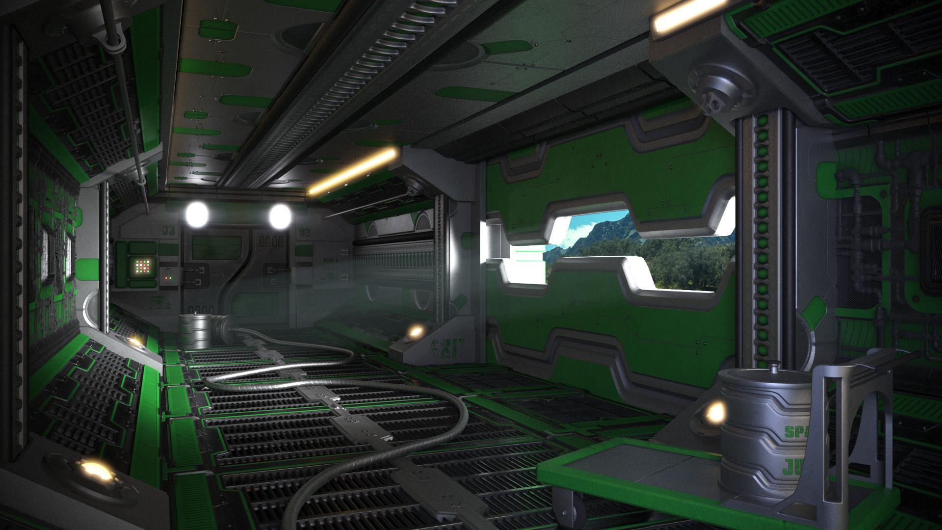 V-ray render, Green variant