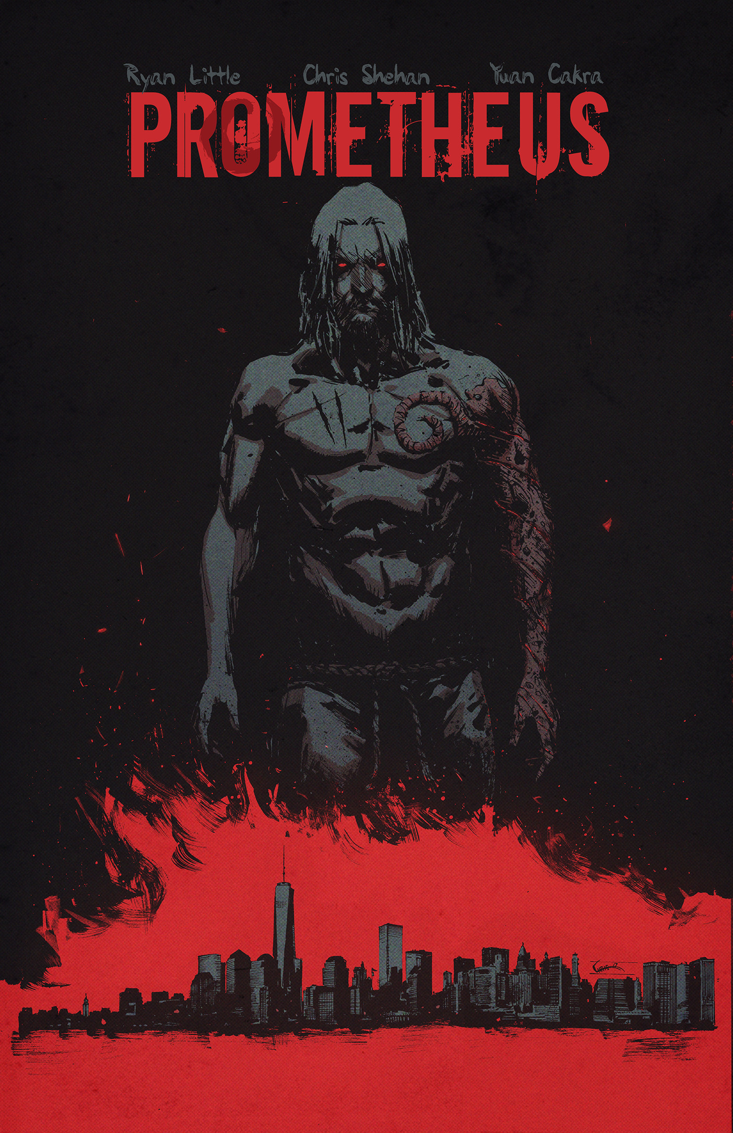 Chris shehan prometheus 1 cover color title