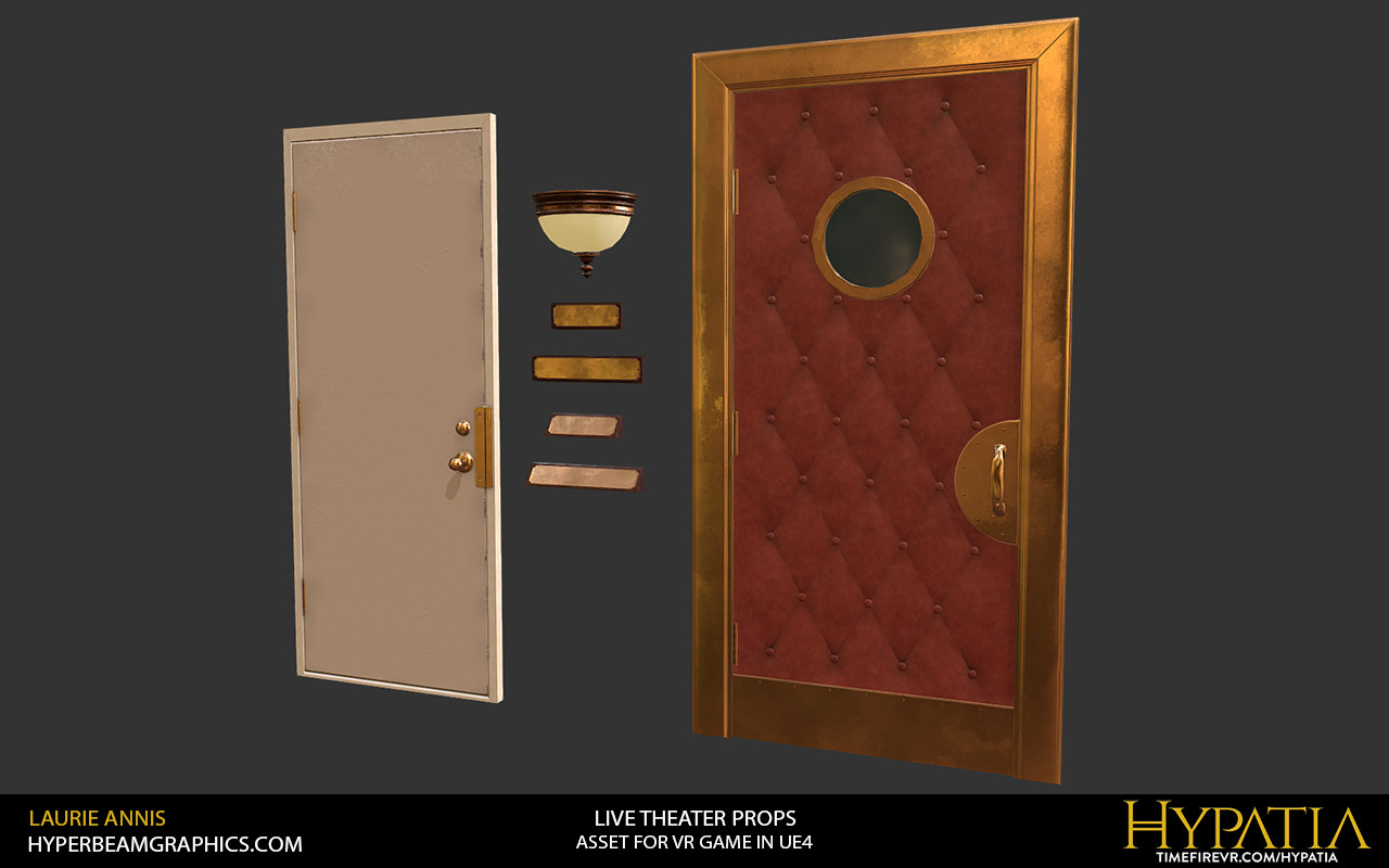 Low poly game assets: Hypatia Live Theater Props