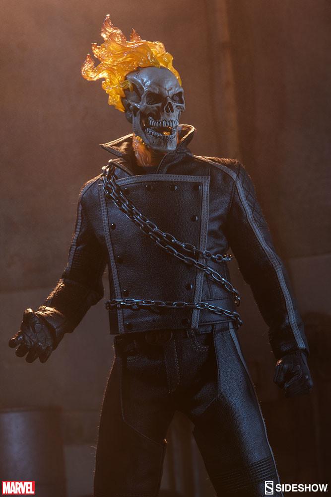 Artstation Johnny Blaze Ghost Rider Portrait Sculpt
