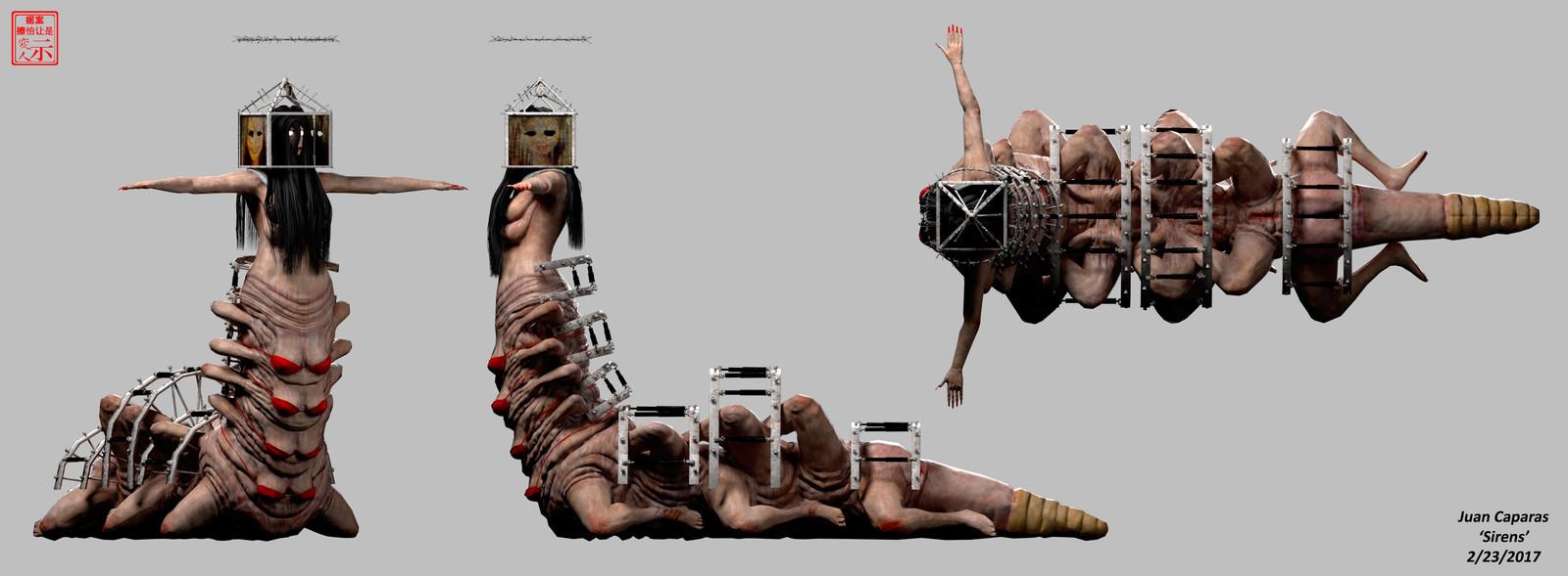 Sirens - 3D Character Breakdowns