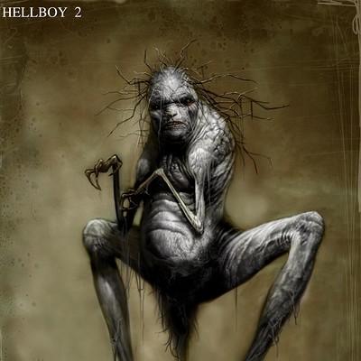 Constantine sekeris as hellboy old lady creature