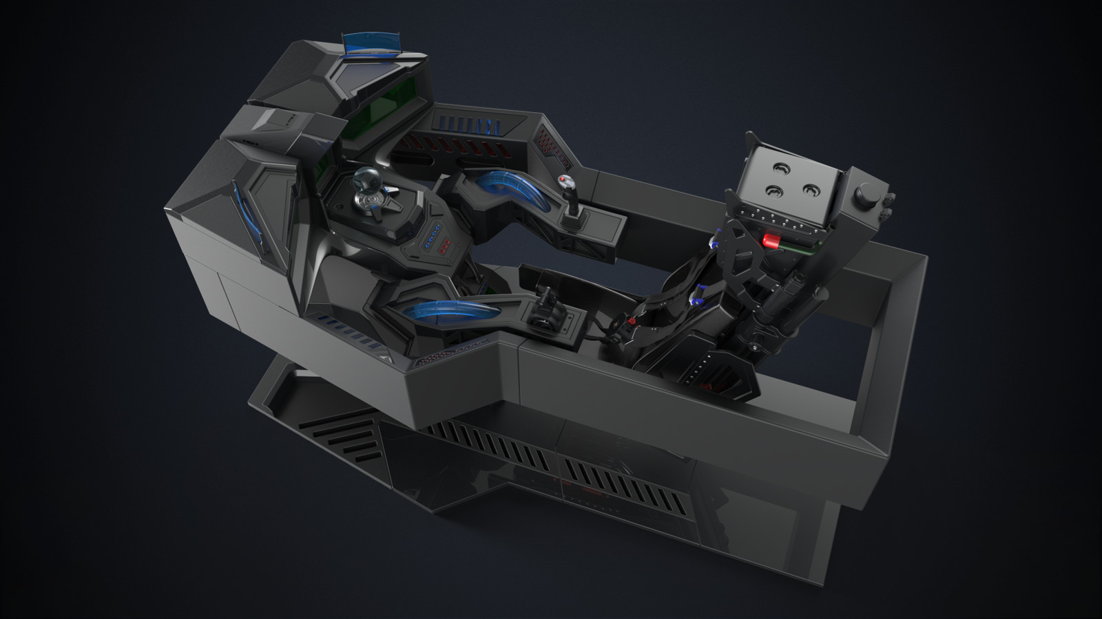 The Reaper - Hardsurface Cockpit