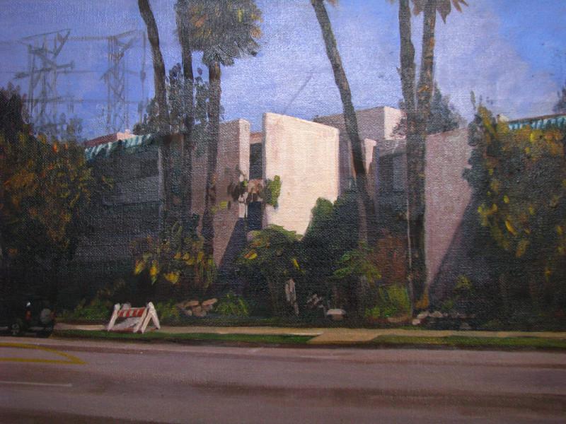 Reseda Blvd- Traditional plein air  acrylic on canvas 9 x12