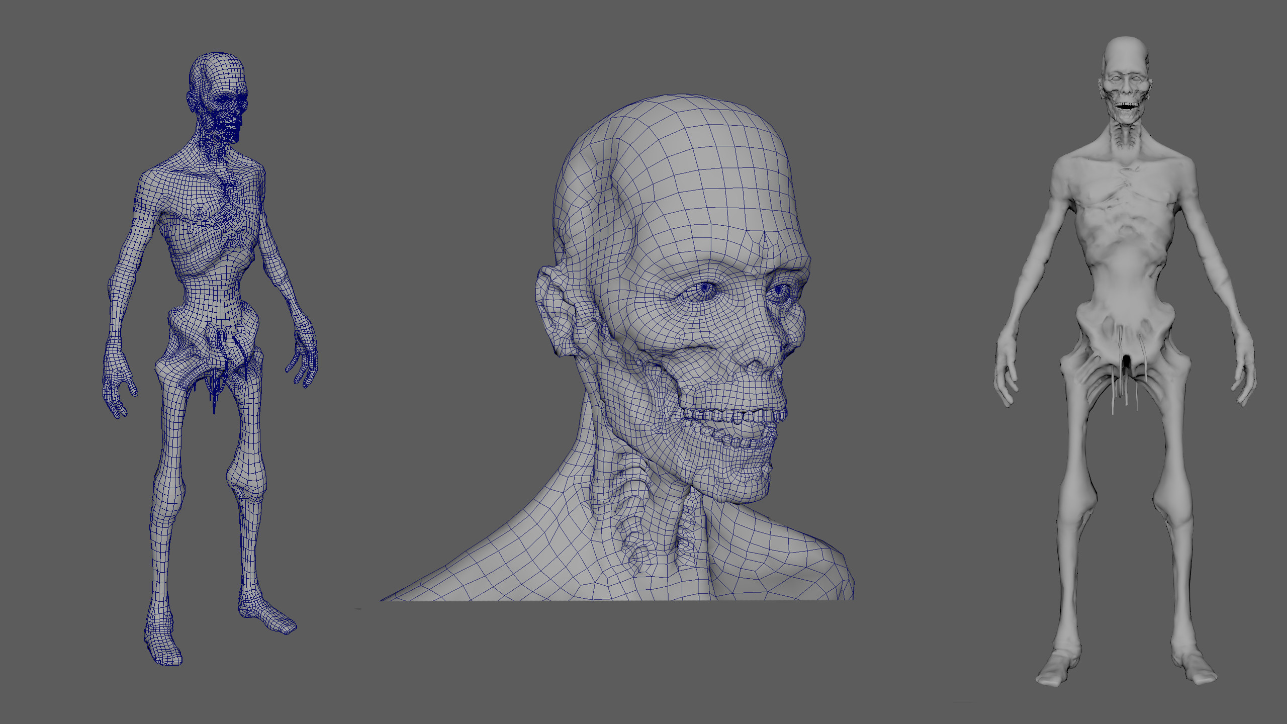 Topology & low poly mesh