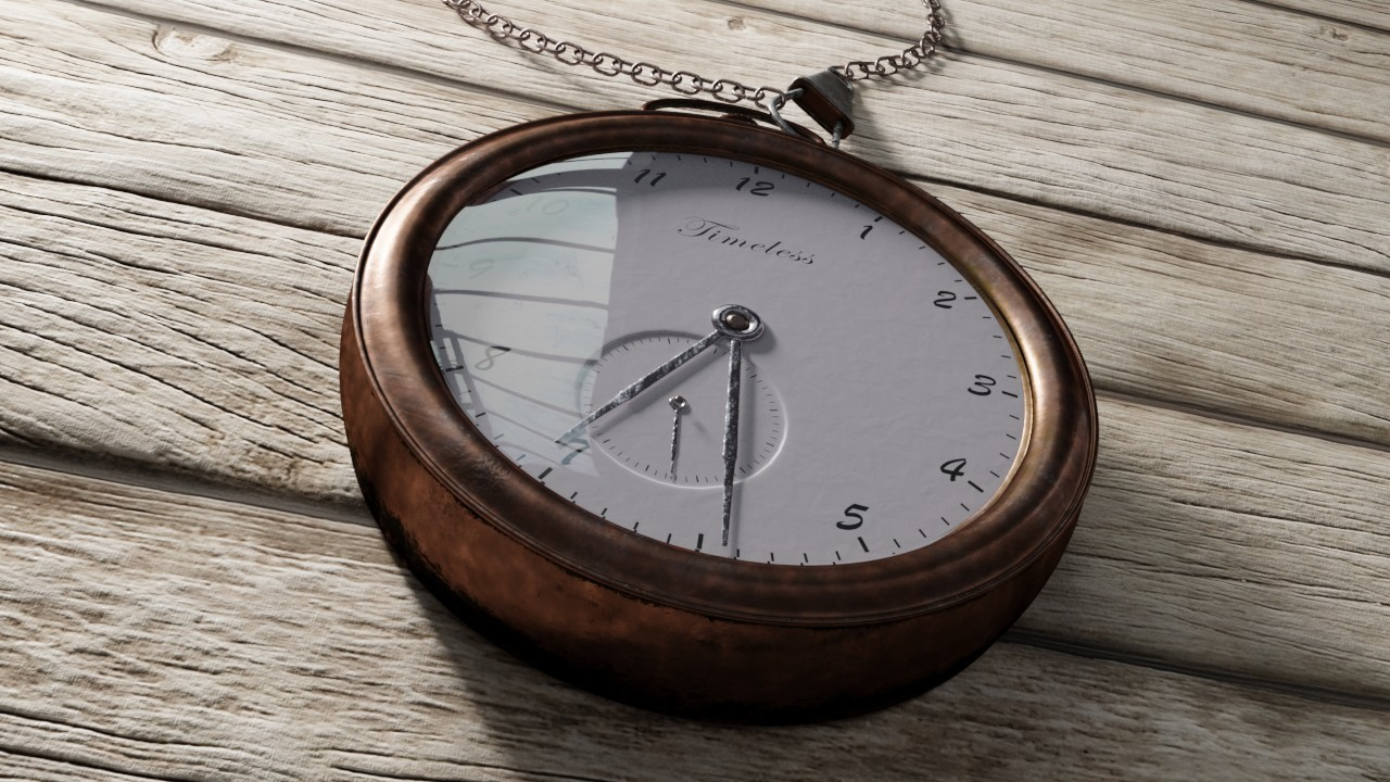 Ravissen carpenen pocket watch raw render