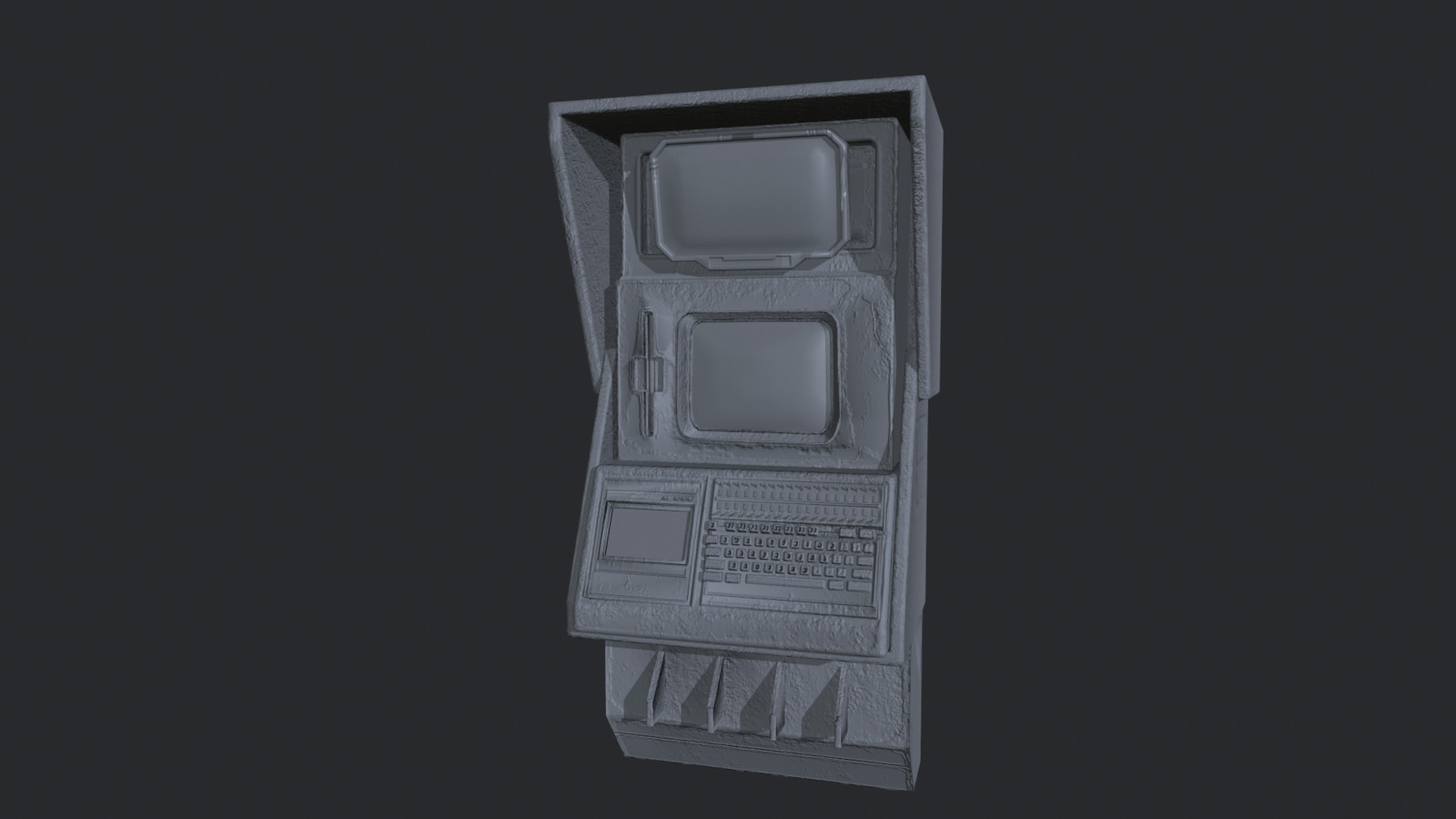 Computer High Poly Sculpt