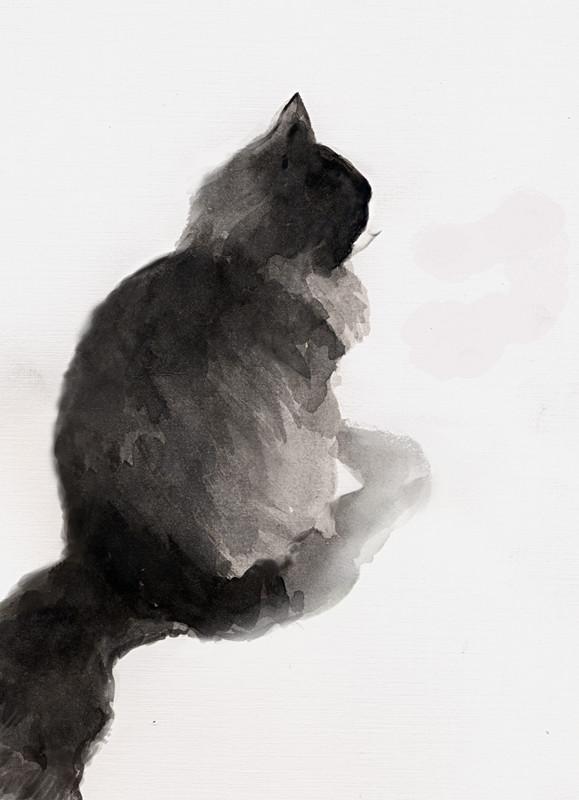 Ink wash Portrait of Pepper