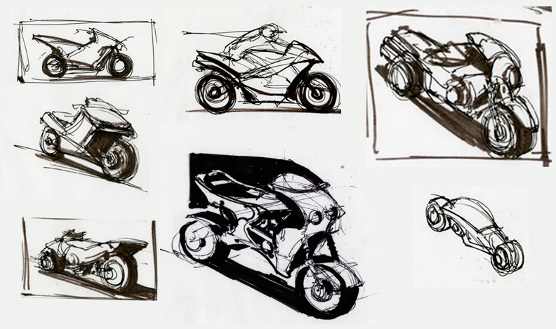 Sketching motorcycles for practice