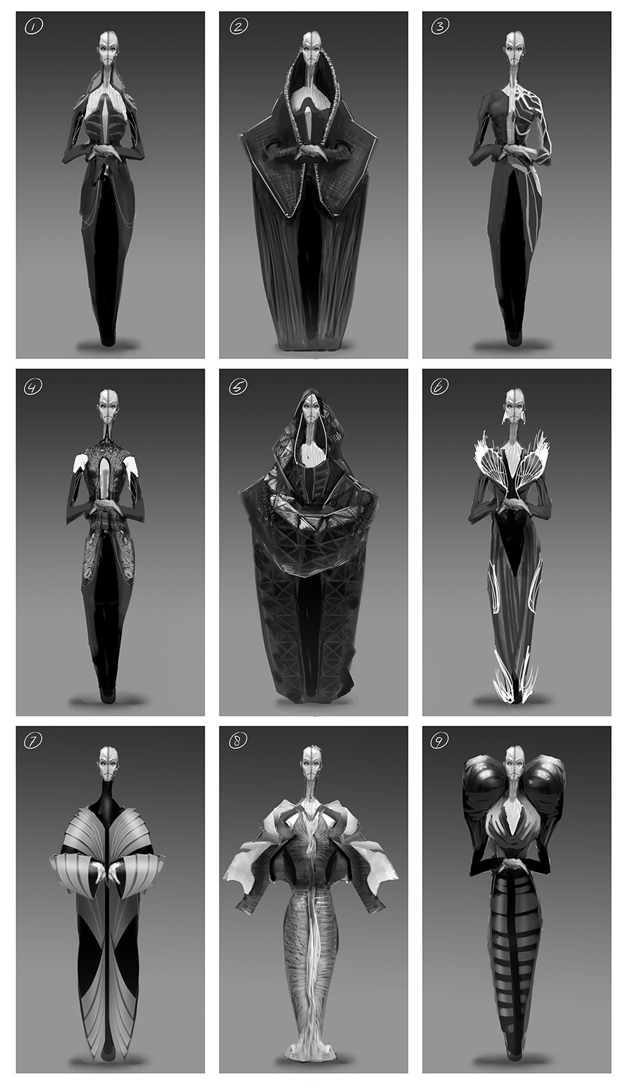 Chris leenheer alien design sketch 02