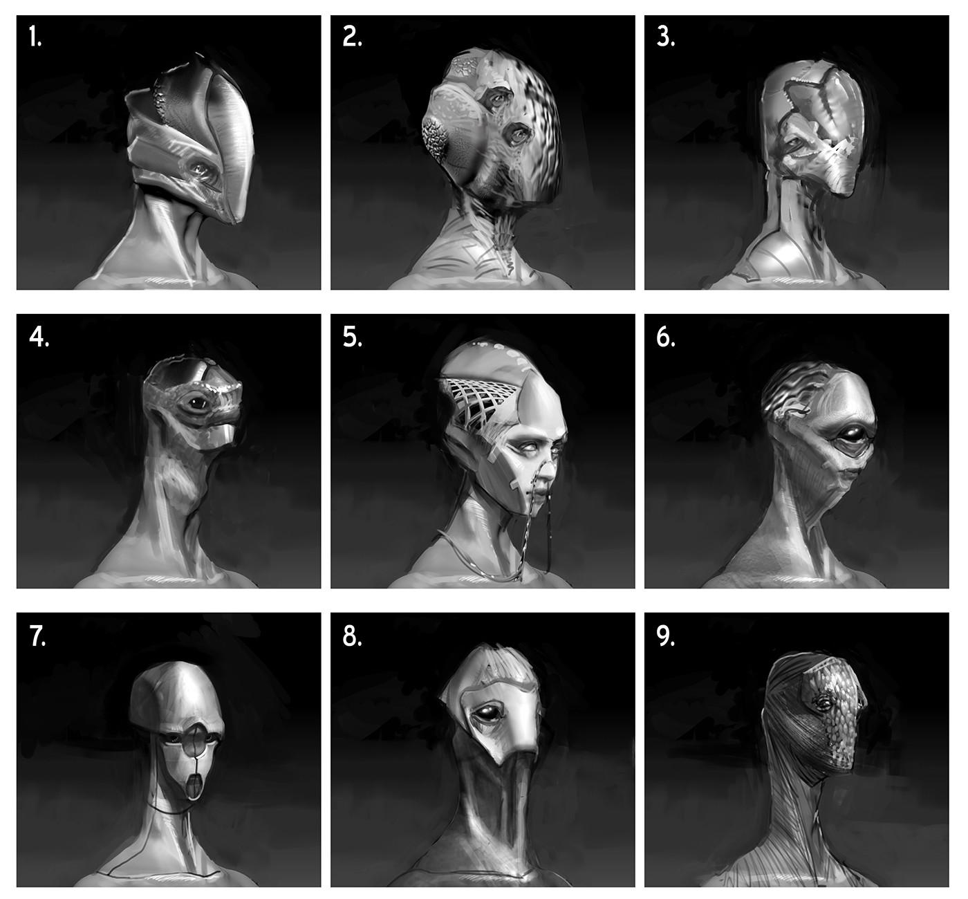 Chris leenheer alien design sketch 04