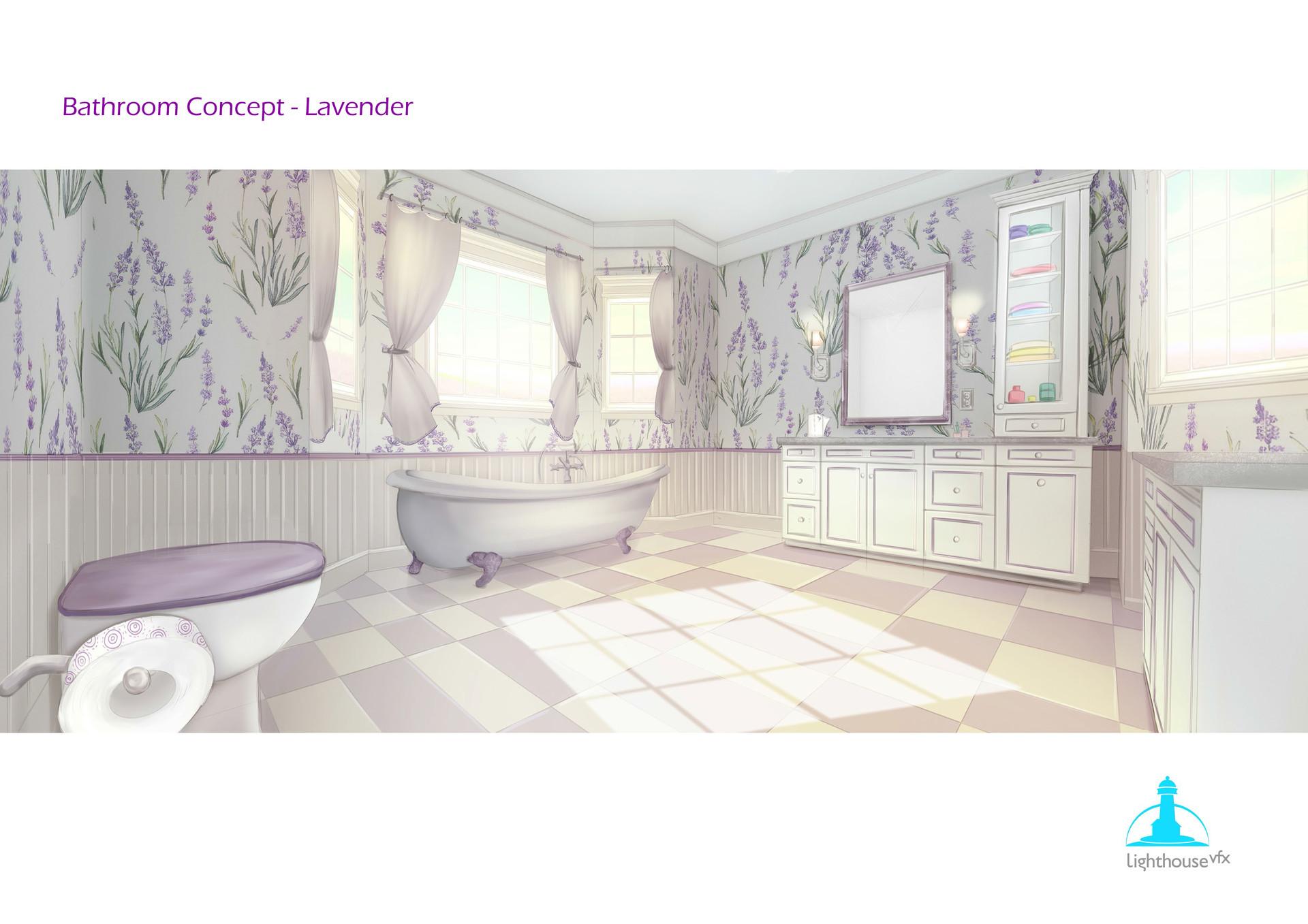 Lavender Bathroom Concept Design.