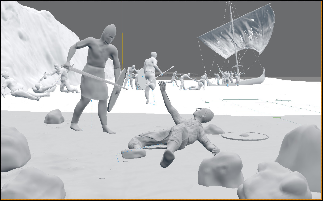 This camera-view screenshot shows the original viewpoint for the scene