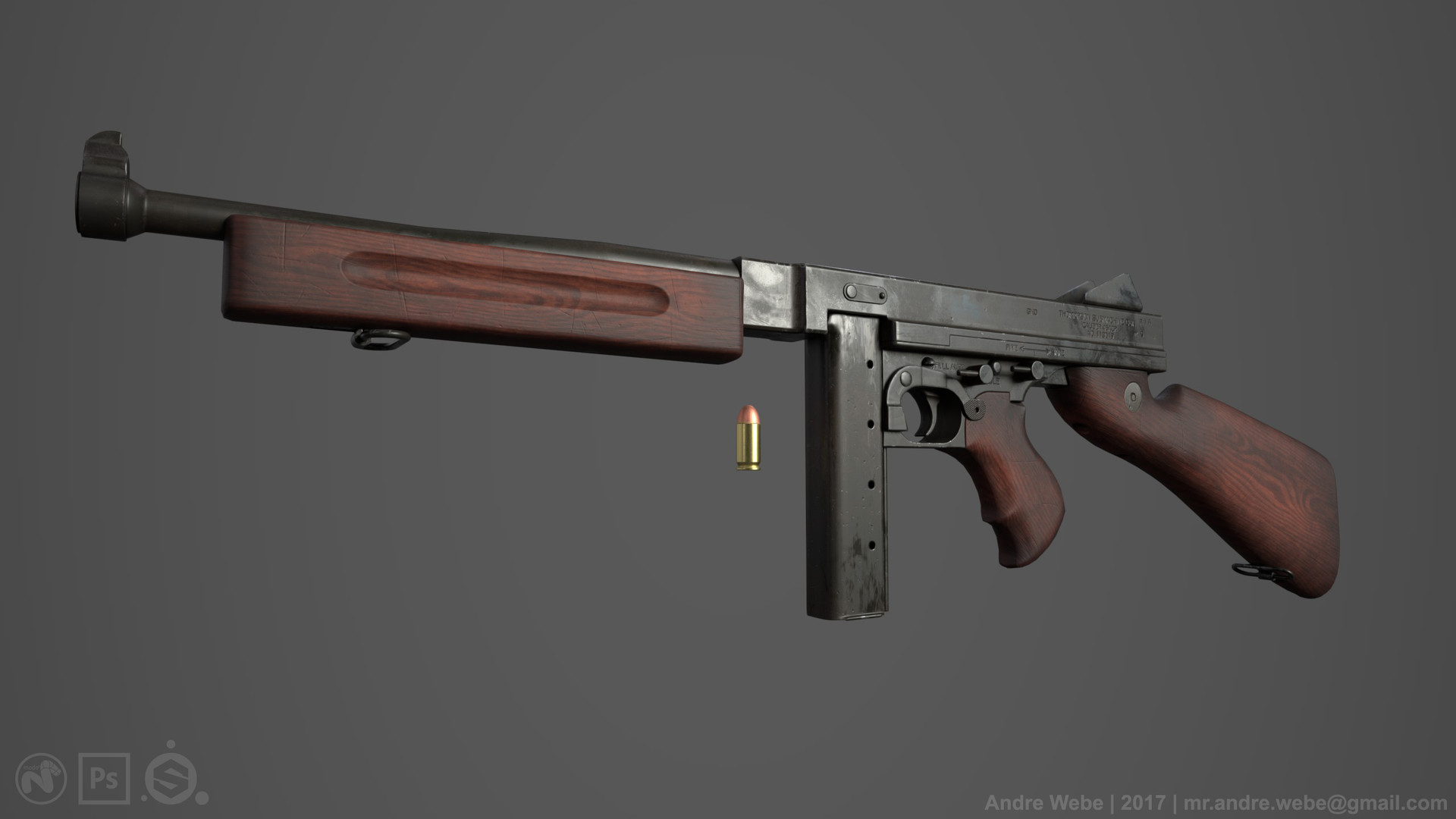 ArtStation - Thompson M1A1 (Game Ready), Andre Webe