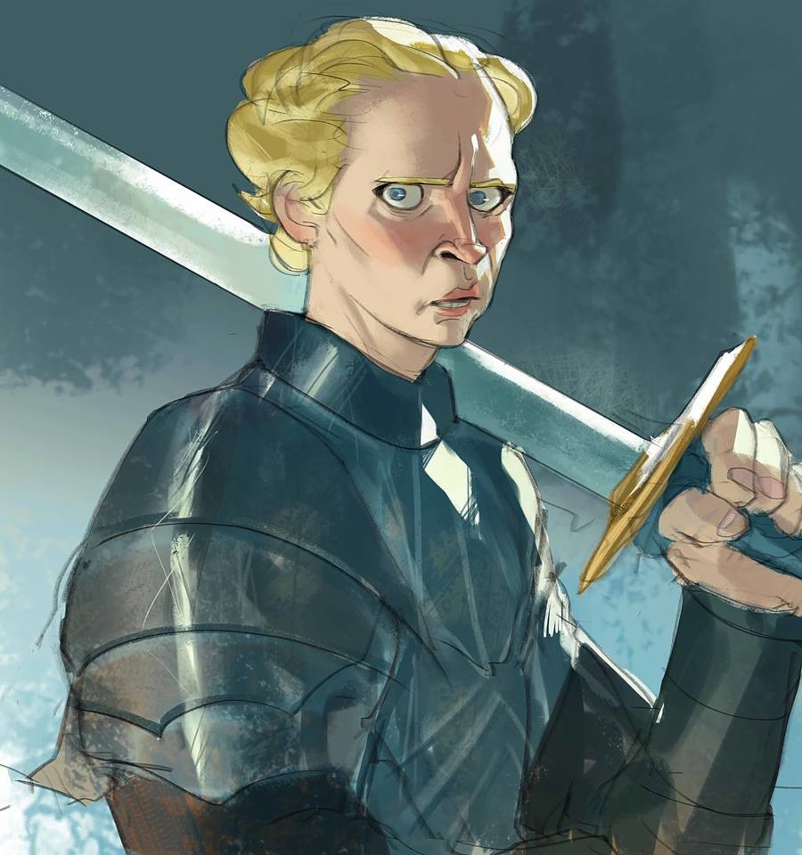 I can't draw Tormund without Brienne reaction