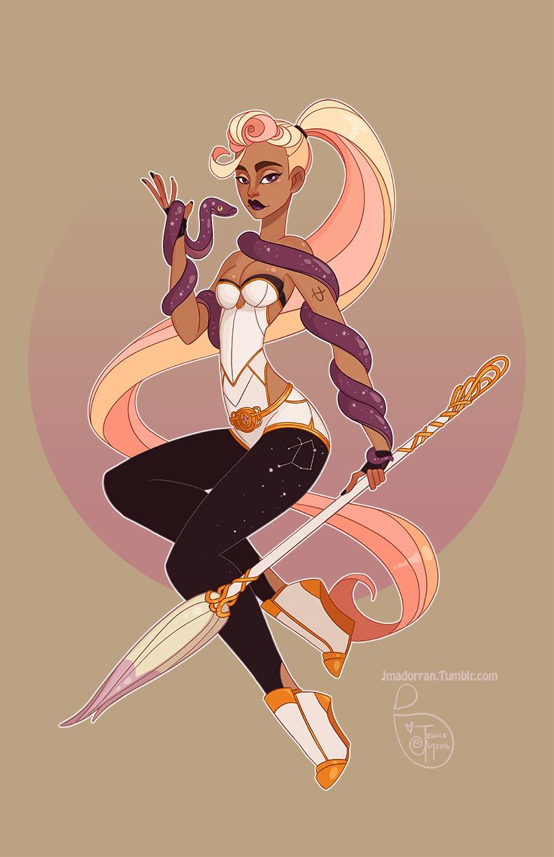 Jessica madorran character design zodiac ophiuchus 2016 artstation