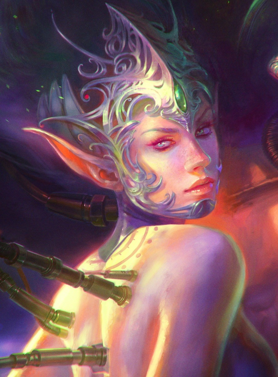 Marta nael cyborg elves couple closeup
