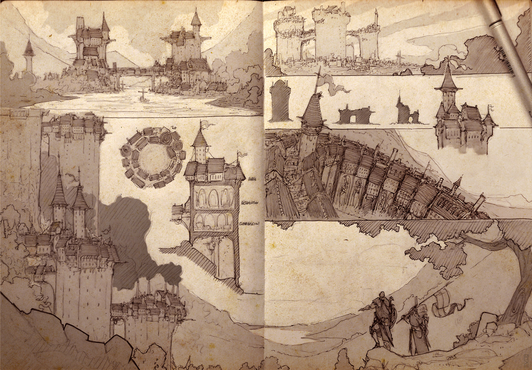 Federico ferrarese evo city sketches