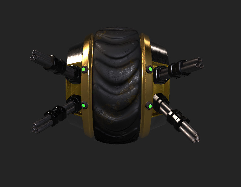 Tire Bot Front View.