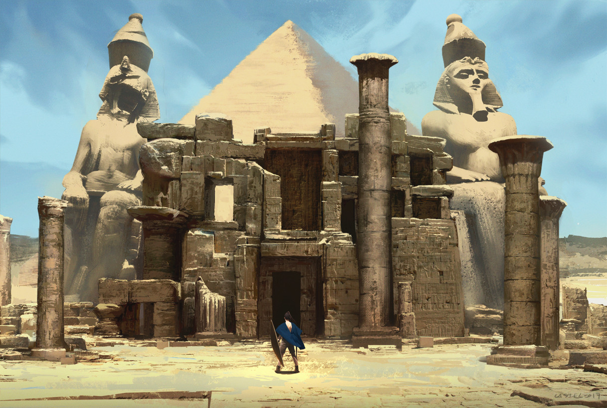Quentin castel egyptian ruins