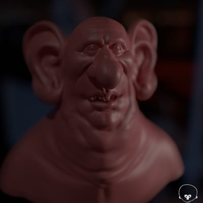 3D sculpt based upon a 2Dconcept by Ryan Wood aka Woody art