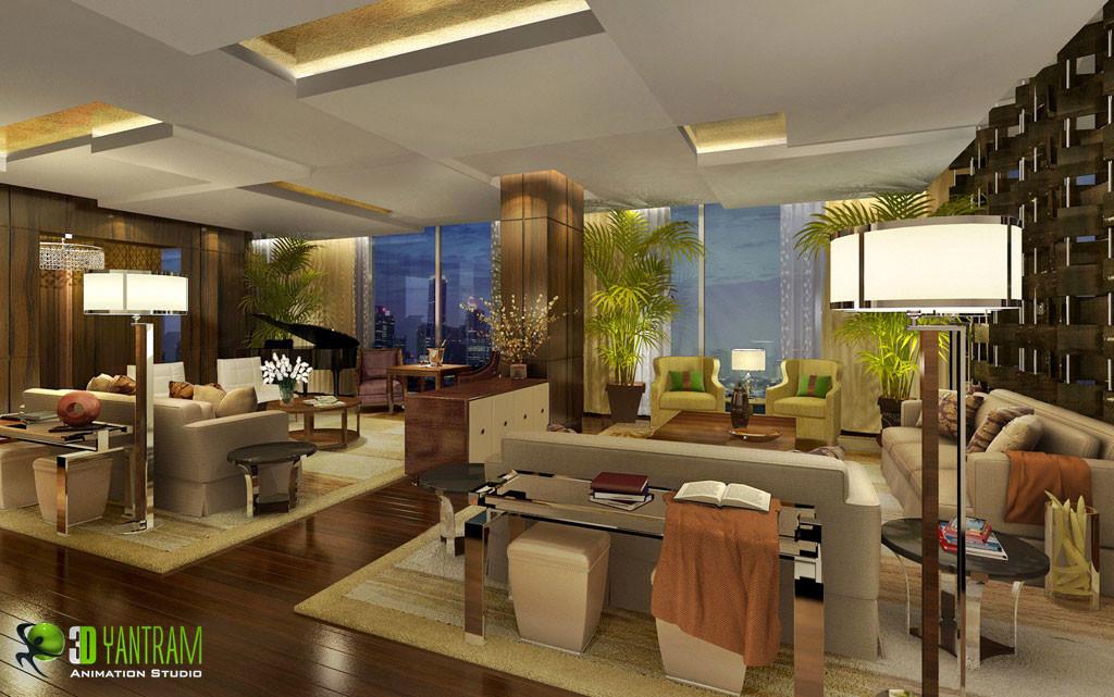 ArtStation - Breathtaking 3D Residential Interior living ...