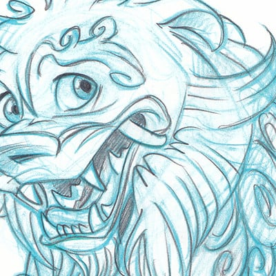 Adam bunch foo dog sketch