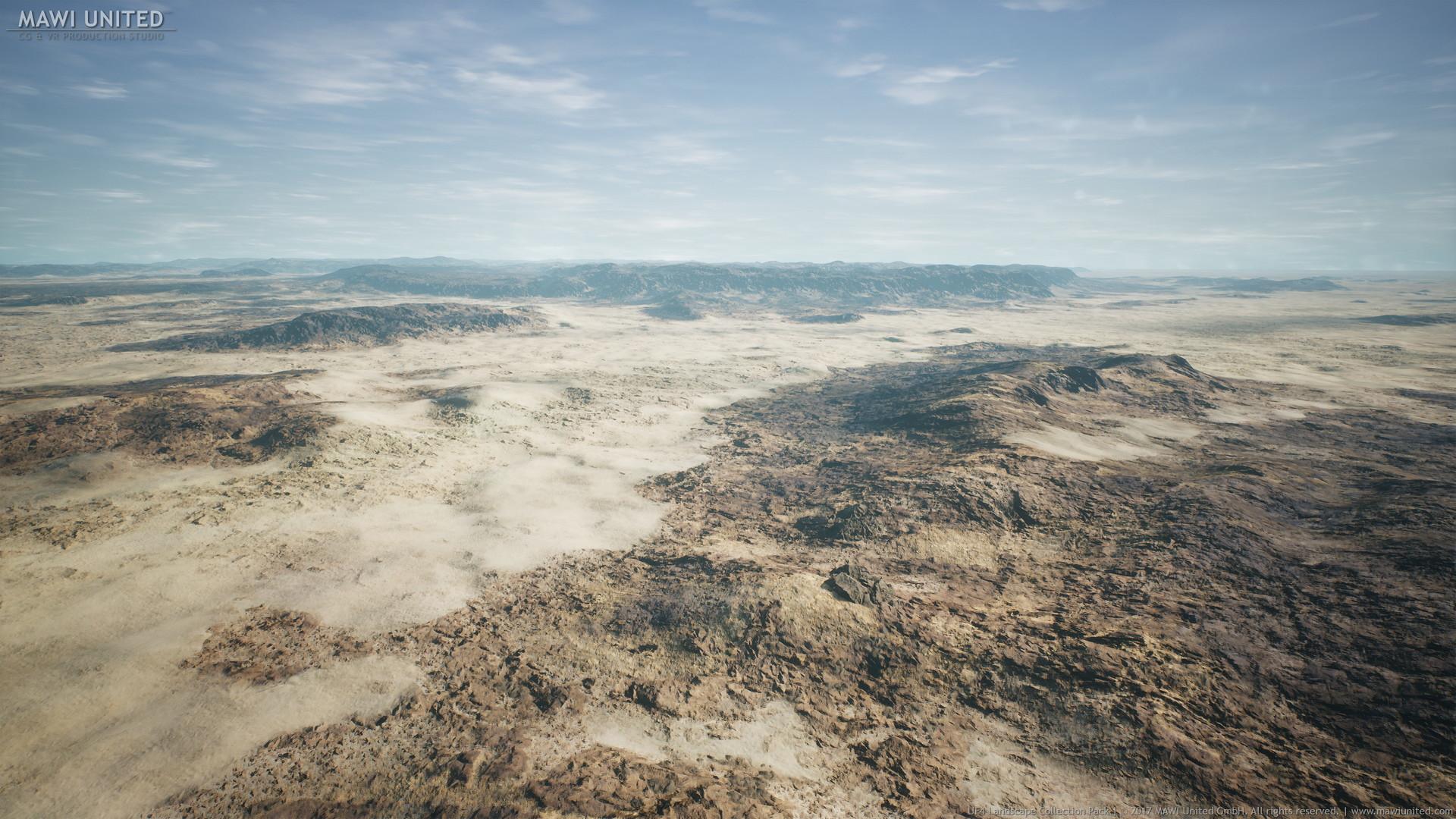 ArtStation - UE4 Lava Desert Landscape, Willi Hammes