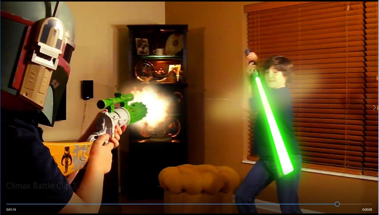 The former Padawan embraces a barrage of blaster fire with the Force guiding his every move.