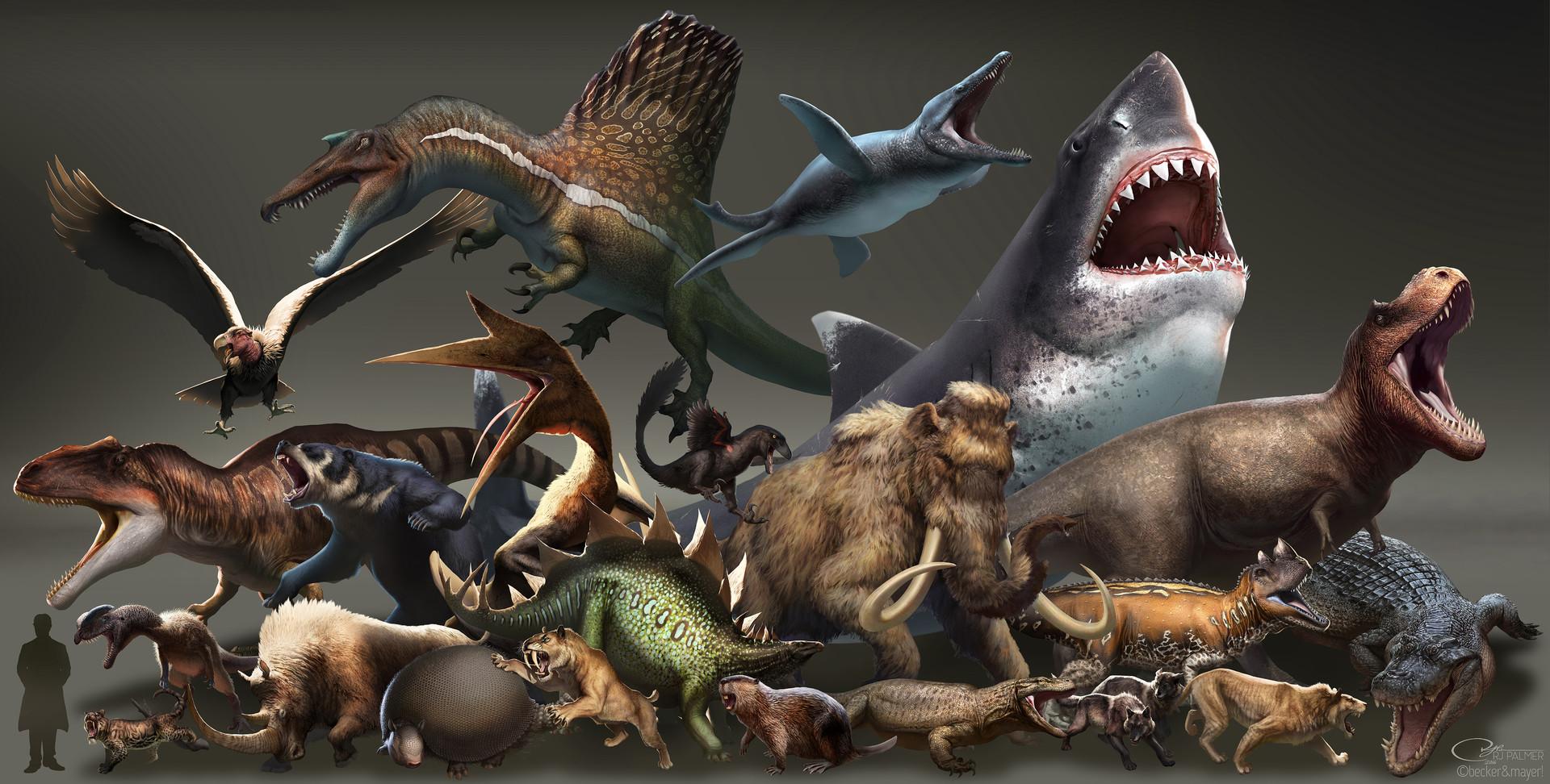 ArtStation - Prehistoric Menagerie, RJ Palmer