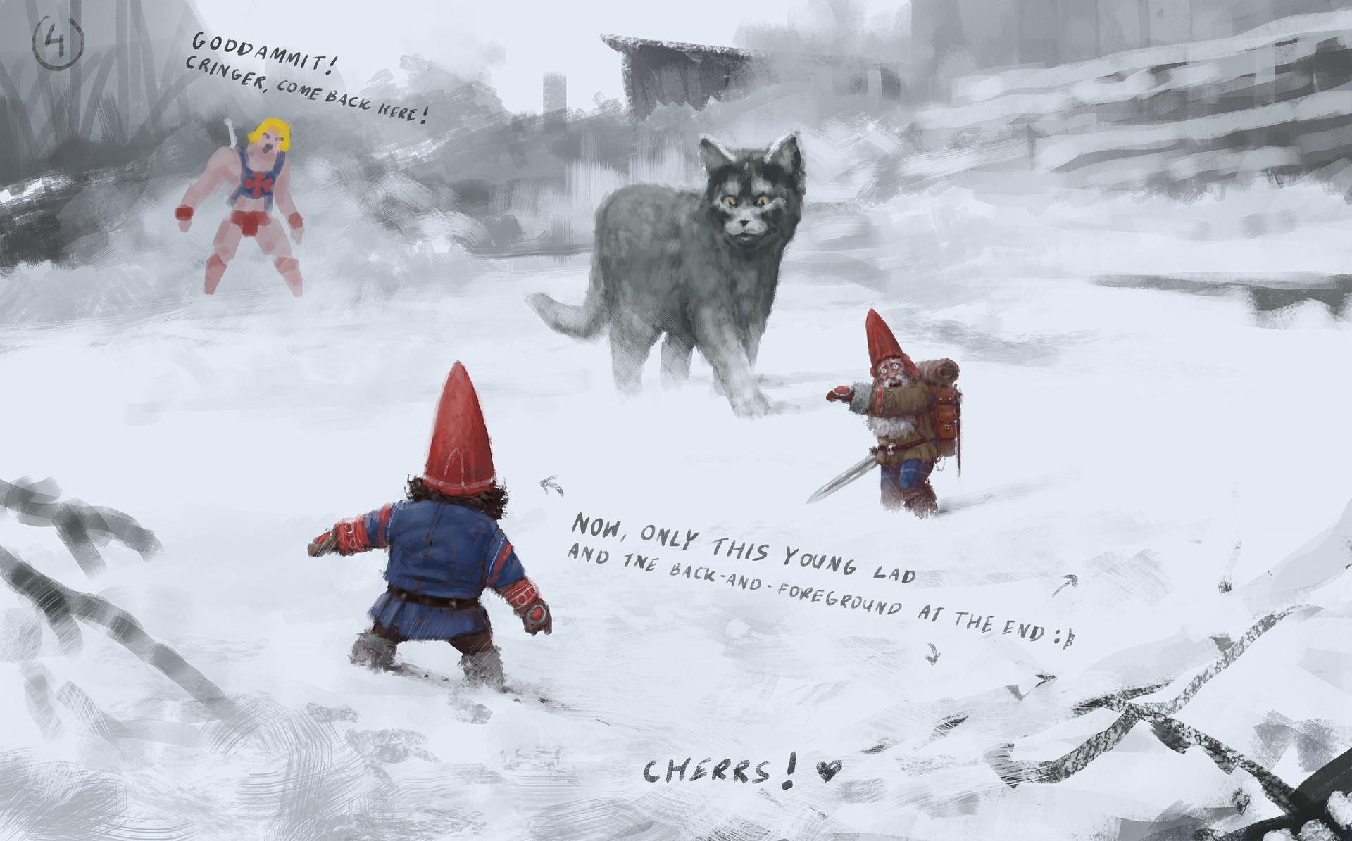 Jakub rozalski furry demon 01process5