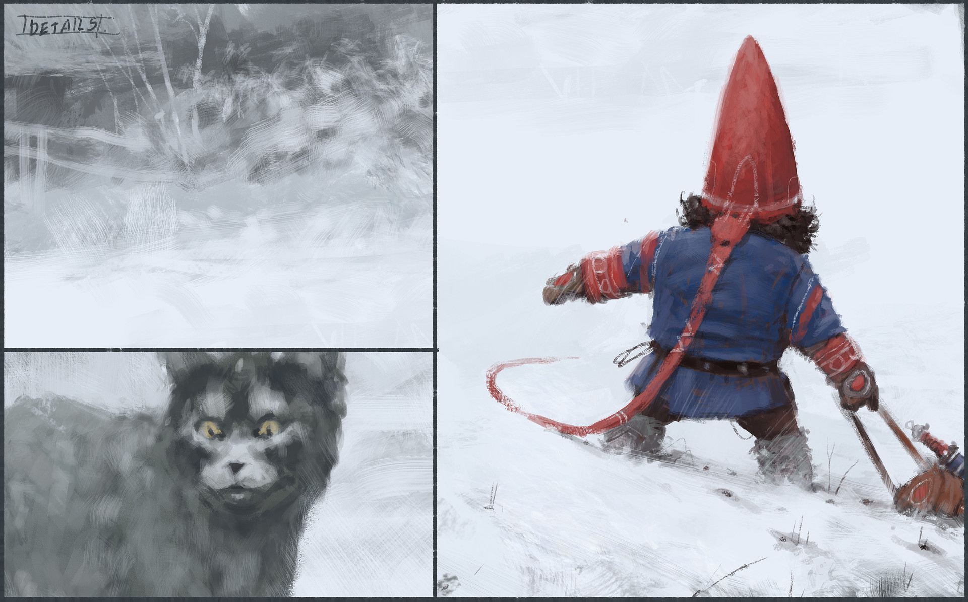 Jakub rozalski furry demon 01process7