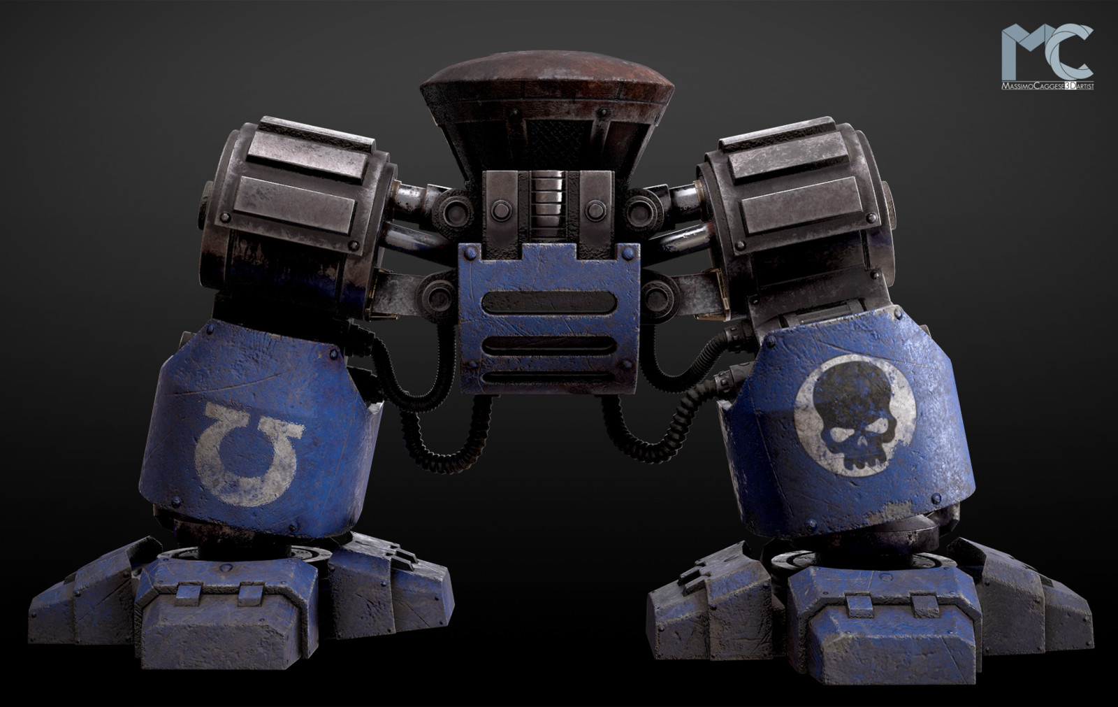 Front view (Marmoset Toolbag 3).