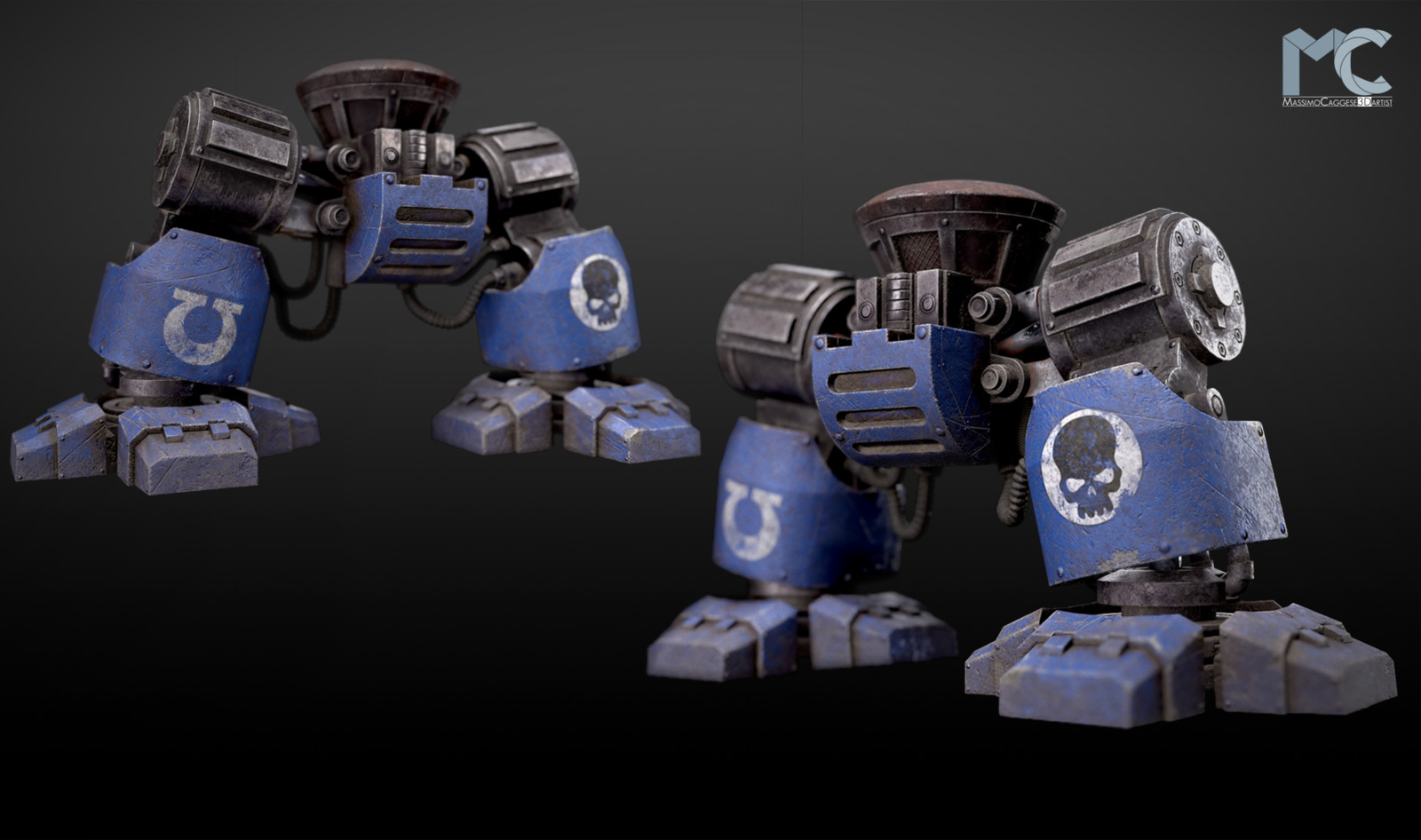 Side view (Marmoset Toolbag 3).