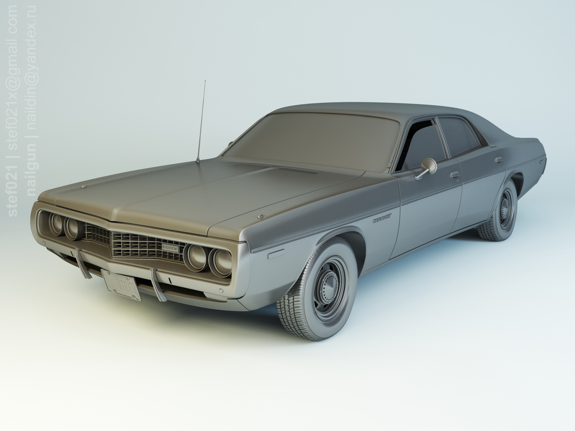 Nail khusnutdinov pwc 053 001 dodge coronet 1973 modelling 0