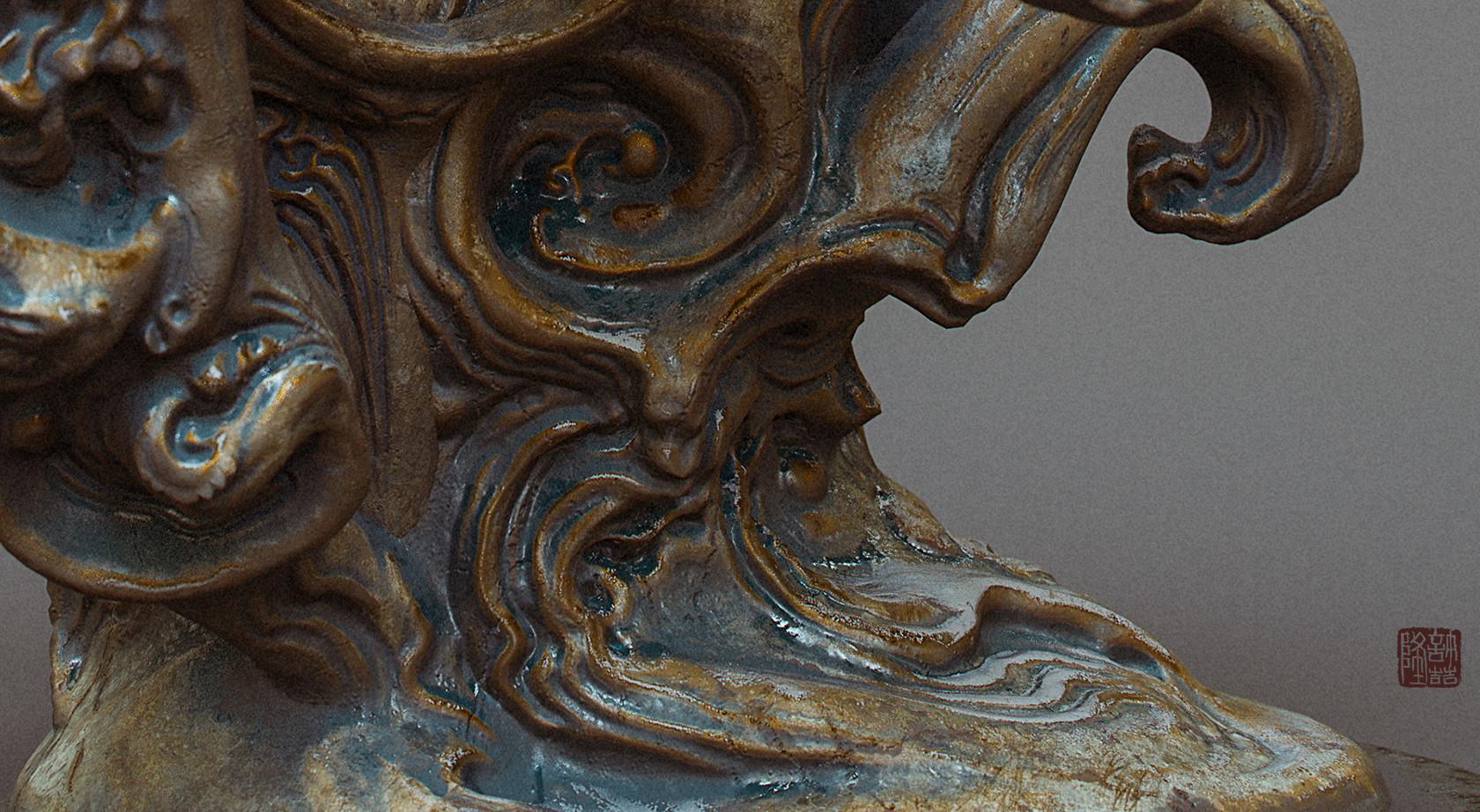 Zhelong xu zhelong xu drgaon statue detail02