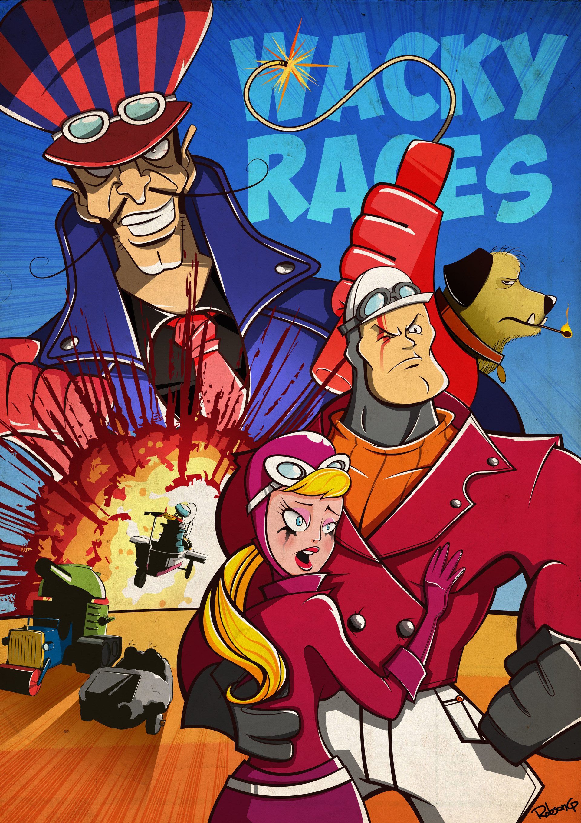 robson gomes wacky races tribute