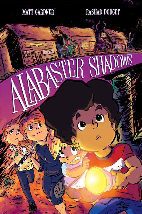 Alabaster Shadows graphic novel cover for Oni Press