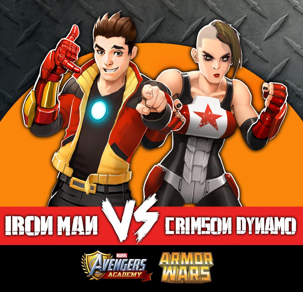 Tony Stark and Crimson Dynamo detail