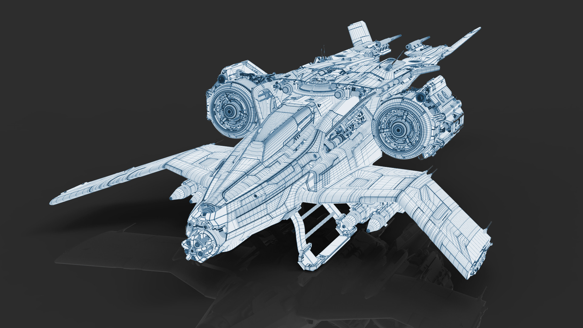 ArtStation - Wireframe and Clay Renders, Andrew Hodgson