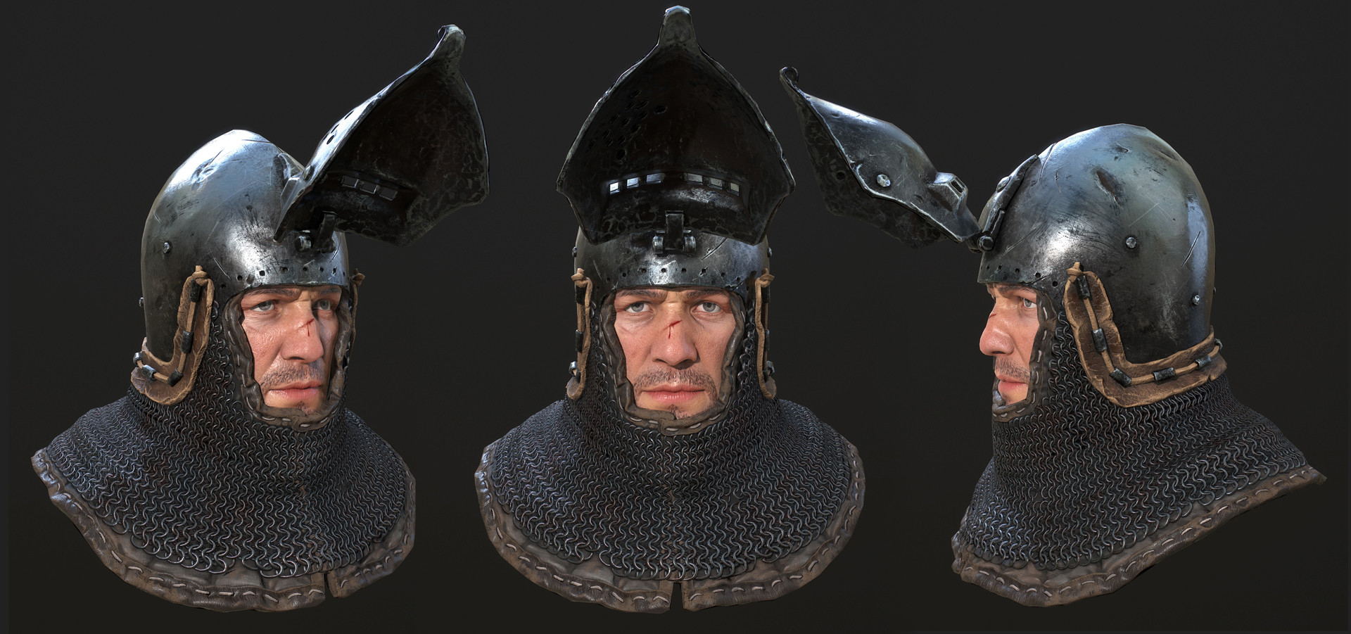 Petr sokolov artpity knight lp face close