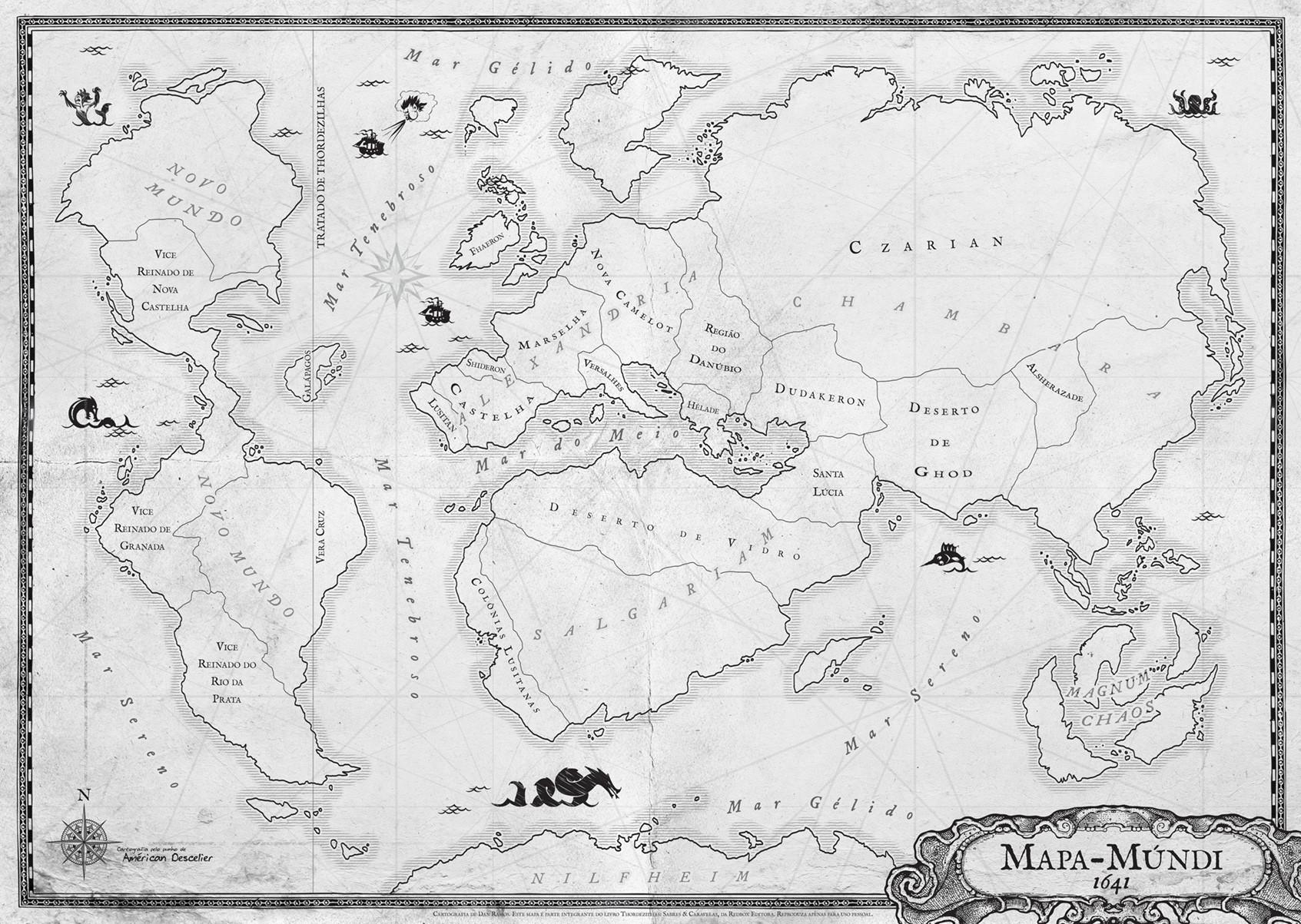 Dan ramos thordezilhas mapa