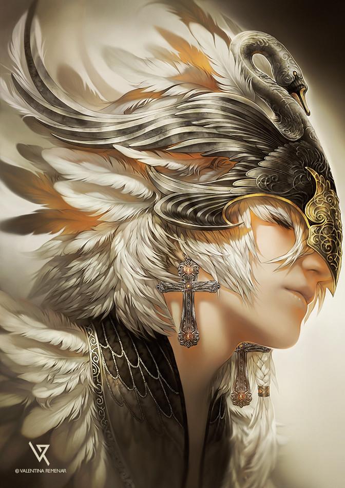 Valentina remenar white swan by valentina remenar