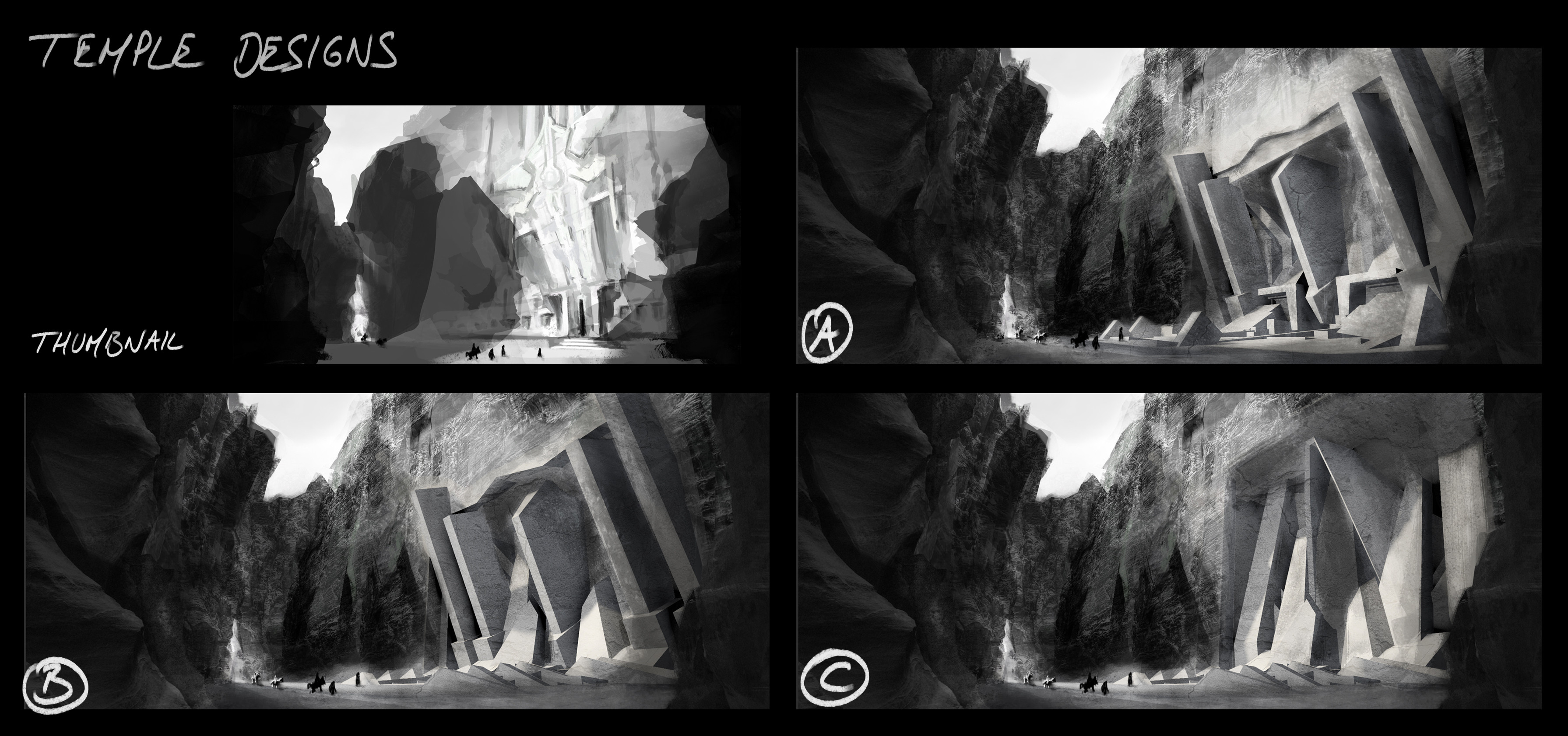 thumbnail and temple designs