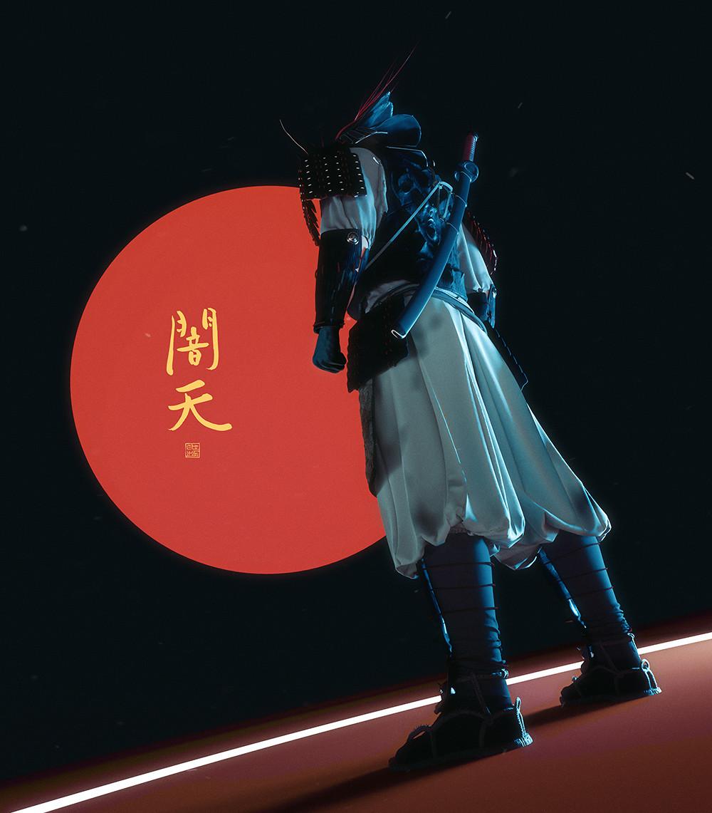 Lorenz hideyoshi ruwwe samurai portrait2 s
