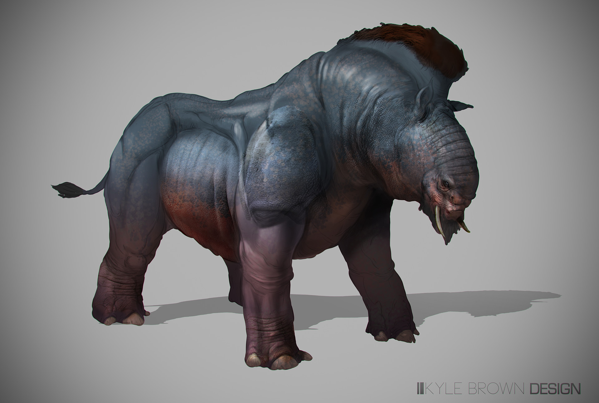 ArtStation - Southern Region Alien Pachyderm , Kyle Brown