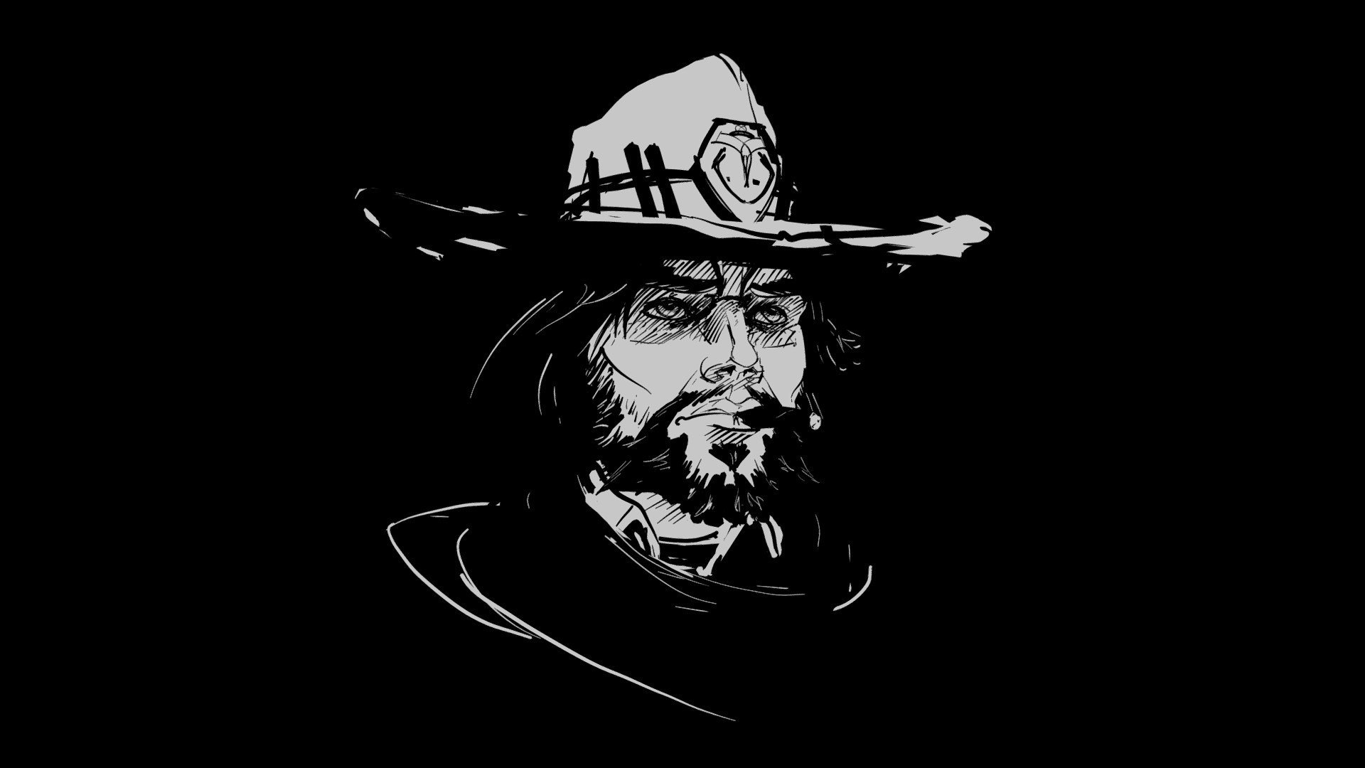 Elizabeth edwards tilt brush overwatch fanart mccree